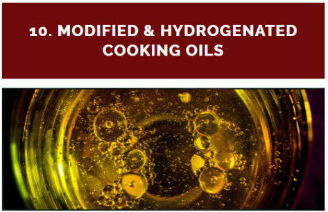 """""""Hydrogenation, complete or partial, is a chemical process in which hydrogen is added to liquid oils to turn them into a solid form. Partially hydrogenated fat molecules have trans fats, and they may be the worst type of fat you can consume."""""""